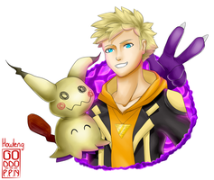 Spark and Mimikkyu by Howleng