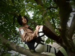 Ymir on the tree by Vivid-Cosplay