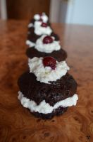 chocolate cupcakes with whipped cream2 by Mirania666