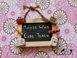 Teacher Chalkboard Magnet by SugiAi