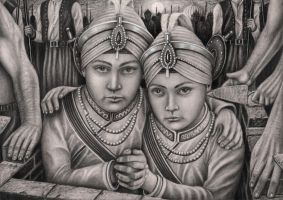 'Zarowar Singh' and 'Fateh Singh' graphite drawing by Pen-Tacular-Artist