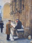 Morning Chat-Siena - Painting by AstridBruning