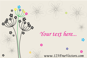 Vector Greeting Card with Flowers by 123freevectors