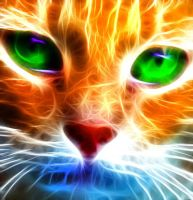 Fractal kitty face by debby-saurus