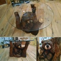 Brown bear coffee table by jackaburl