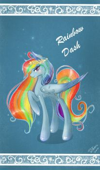 Card: Rainbow Dash by Wilvarin-Liadon