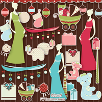 O Christmas Baby Clip Art by jdDoodles
