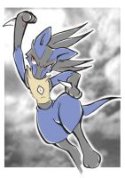 Lucario Sky Uppercut by Raccooncube
