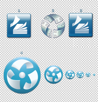 Document flow system icons by CGrey