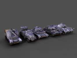WW2 German Tanks by CulBoji