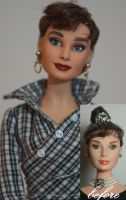 Audrey Hepburn as Sabrina OOAK doll by lulemee