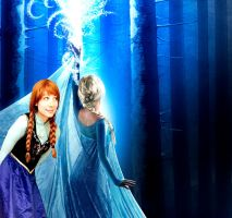 Anna and Elsa in OUAT by Sina-Rose