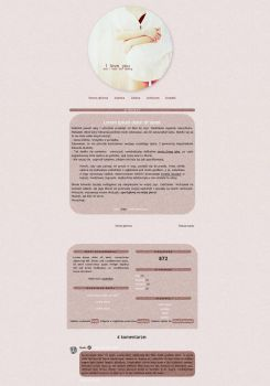 Blogspot template I love you by MySensitiveHeart