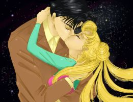 Moonlight Kiss by sailormoonfanclub