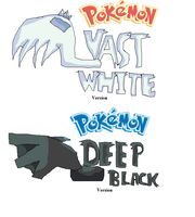 Pokemon Vast White and Pokemon Deep Black by ThatCharizardGuy
