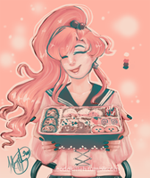 Bento Boxin' With Sailor Jupiter by oddfeline