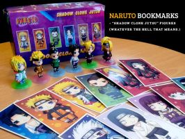 Naruto Bookmarks and Figures by kuridoki