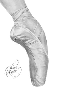 Pointe Shoe by g00seling