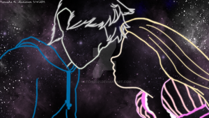 Star night Jack and Rapunzel by natchi2021