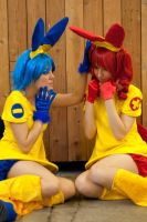 Don't cry... Minun and Plusle - Pokemon by Bunnymoon-Cosplay