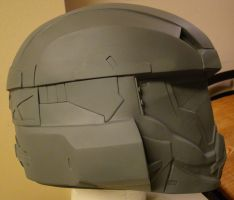 Halo 4 Lifesize Recruit helmet build Side view by Hyperballistik