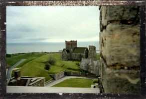 View From Dover Castle by angelbabiau