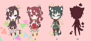 Adoptable Star Seekers 7-10 : AUCTION CLOSED by Haru-run