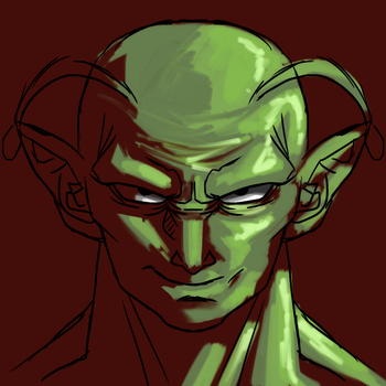 Piccolo speed art by AndersonNishimura