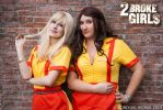 2 broke Girls_Max and Caroline by JamieCool
