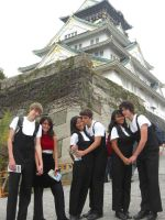 Osaka Temple with Band Geeks by blindbutblink
