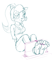 -Sketch- Coco's feet *o* by wtfeather