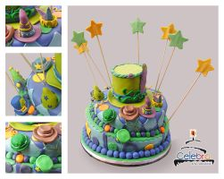 Hat Party cake by The-Nonexistent