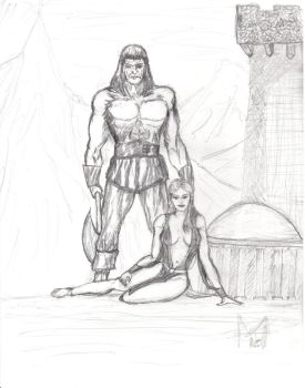 Conan sketch by heathenbard