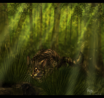 Brambleclaw - hunter in wood by Ali-zarina