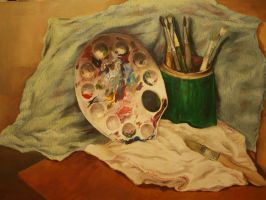 brushes etc. still life by TheMoho