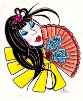 geisha design by AZIZA-FEMI
