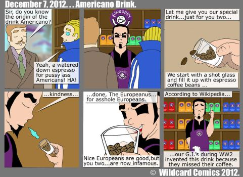 Americano by wildcardcomics