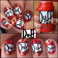 Duff beer nails by Ninails