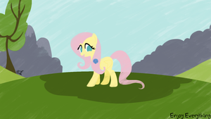 [EE]Fluttershy in a field by aruigus808