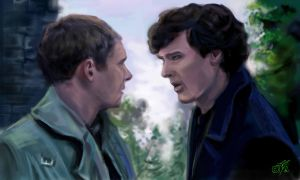 Sherlock and John BBC - 2 by DreamyArtistRoxy3