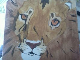 Lion Painting by Peggy2011