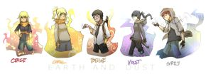 Earth and Dust, Character Line up by stupidyou3