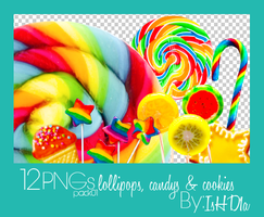 Pack01_PNGs_Lollipops by IsHD1a