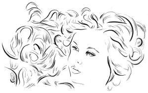 Illustration - Line triptych - Aquarium girl by TheLipGlossary