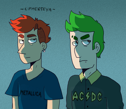 teenage phineas and ferb by CipherTeya