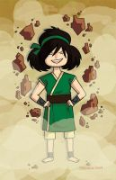 Toph is an earthbender by TRAVALE