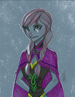 Warm Up 2, 12-28-2013 Anna from Disney's FROZEN by Hodges-Art