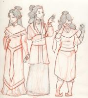 The Retro Fire Nation Trio by Meelu-the-Bold
