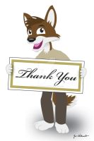 Thank You Card Cover Art by wannabemustangjockey