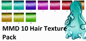 MMD 10 Hair Texture Pack by Icon-Comission